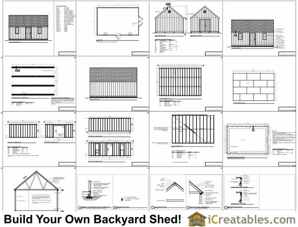 16x24 shed materials list joy studio design gallery for Shed plans and material list