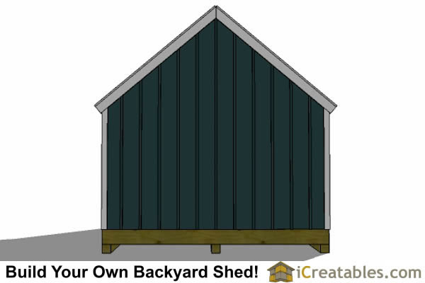 16x24 colonial style shed plans  elevations