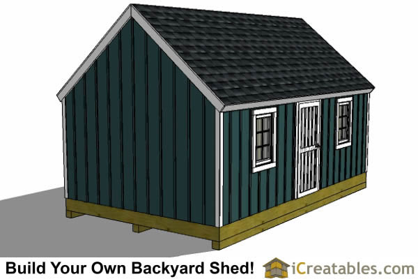 16x24 colonial style garden shed plans left side
