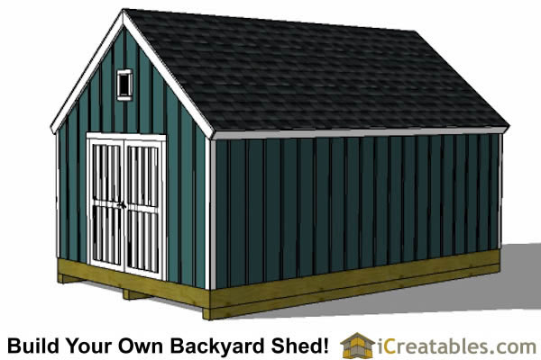 16x24 colonial style garden shed plans
