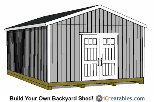 16x24 Garage Ideas : Shed plans joy studio design gallery best
