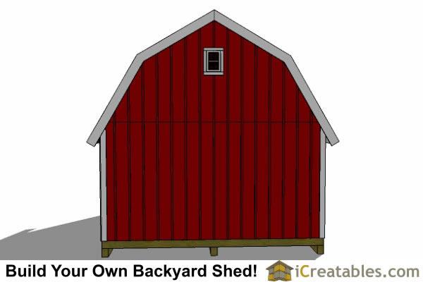 16x24 Garage Barn : Gambrel shed plans barn
