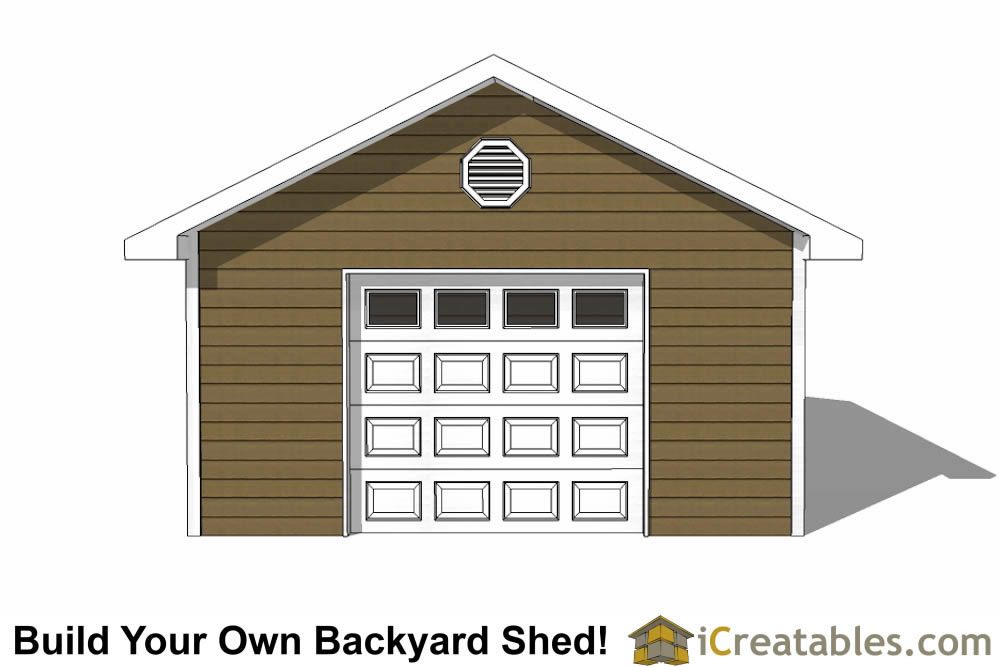 16 By 24 Garage : Garage shed plans build your own large with a