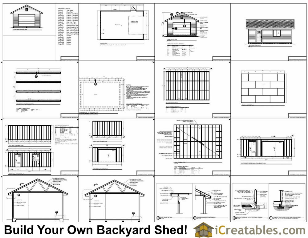16x24 garage shed plans build your own large shed with a for Garage door plans free