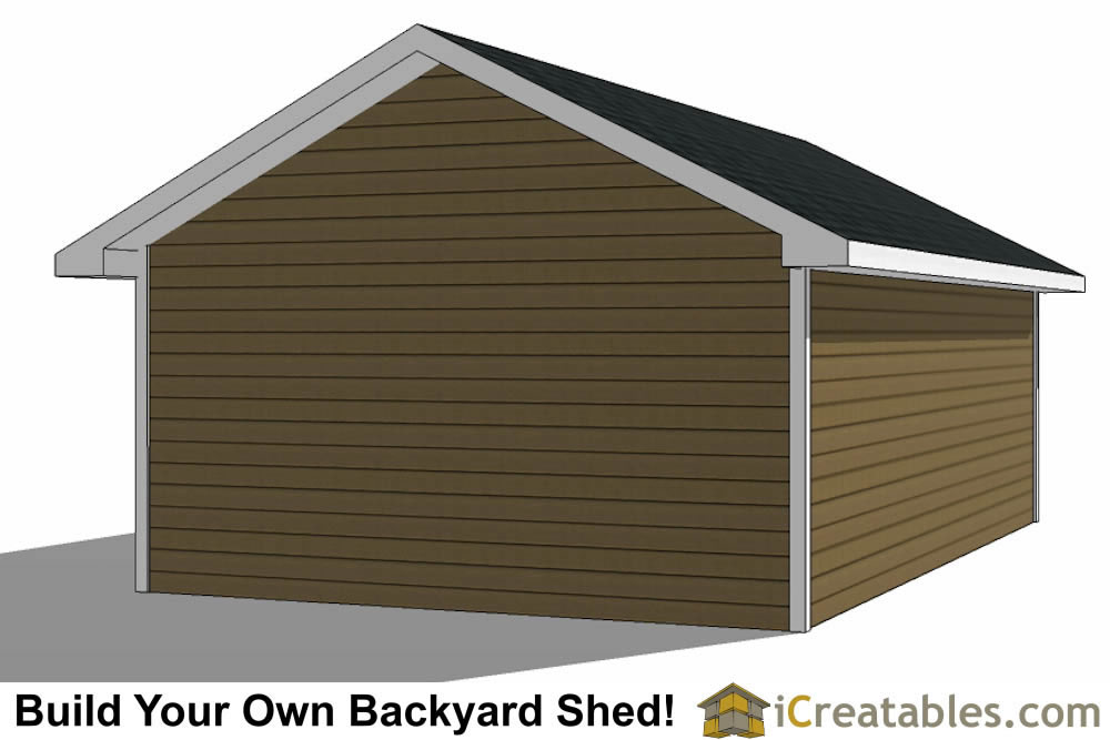 16x24 shed with garage door top view