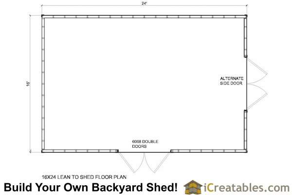 8 x 16 lean to shed plans art crafter for 16x24 shed plans free