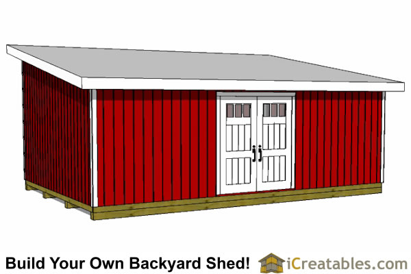 16x24 lean to shed plans