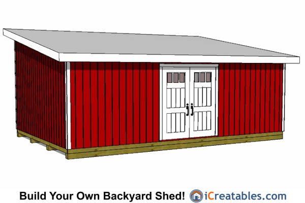 16x24 lean to shed