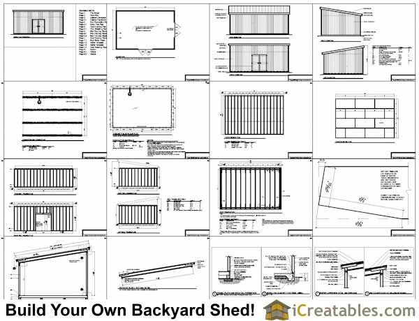 Nyela shed plans 16x24 free for Lean to plans free