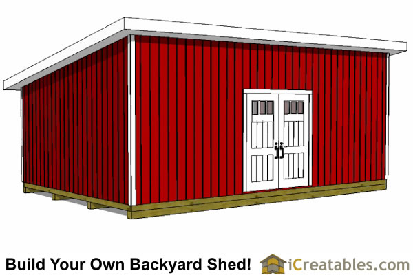 Image Lean To Shed Plans 16x24 Download