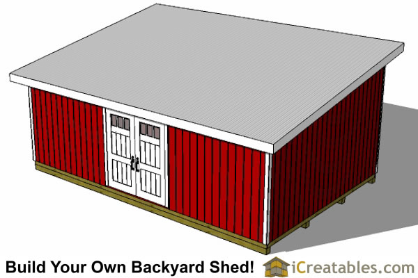 16x24 Lean To Shed Plans | Large Lean To Shed Plans