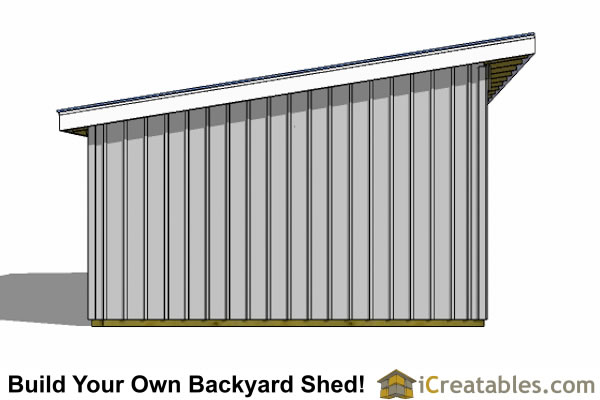 Brokie free horse run in sheds plans for Post and beam shed plans