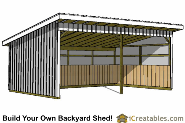 16x24 Run In shed plans