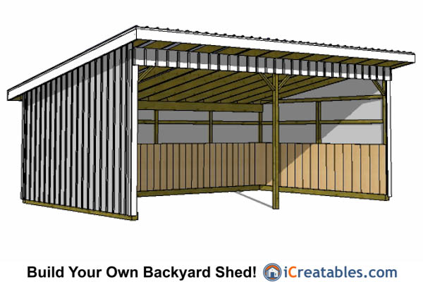 16x24 Run In Shed