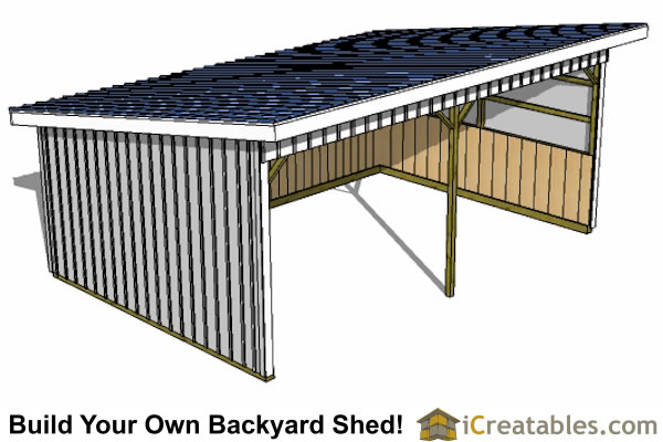 16x24 run in shed plans top view