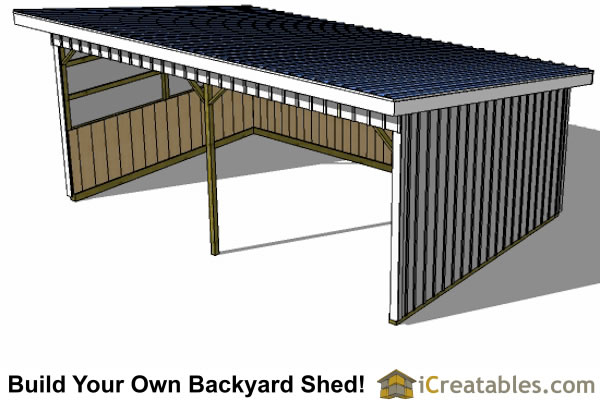 16x24 horse run in shed top