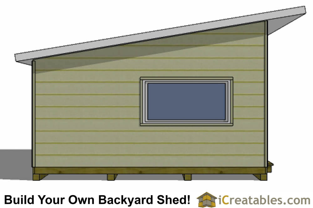 16x16 modern shed plans top