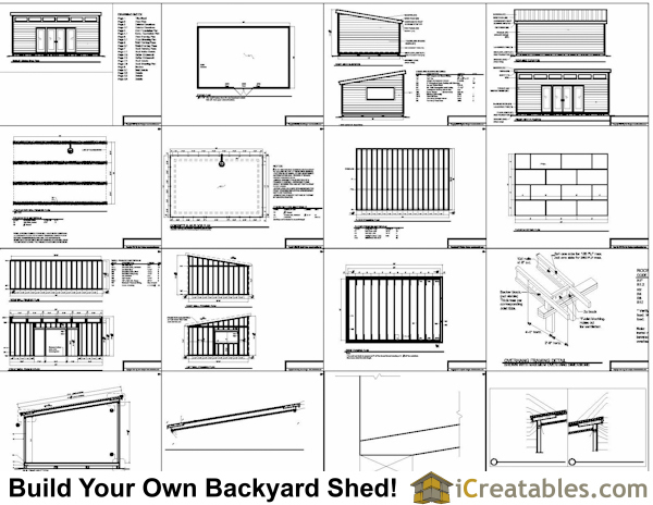 16x24 Studio Shed Plans Large Modern Shed Plans