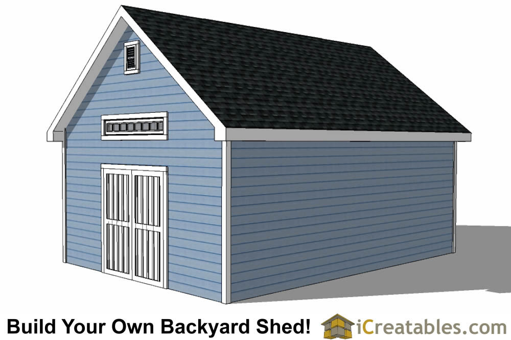 16x24 Storage Building : Shed plans with dormer icreatables