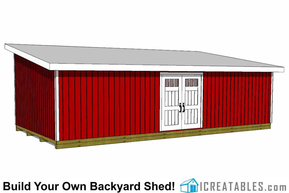 16x32 shed plans leanto shed plans