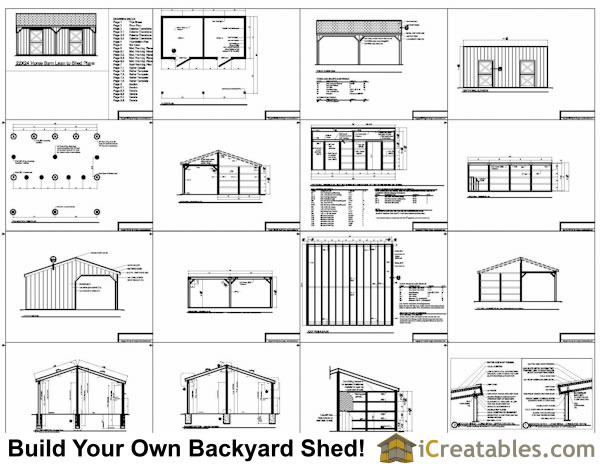 22x24 horse barn with lean to icreatables sheds for 2 stall barn plans