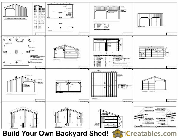 2 stall run in shed plans