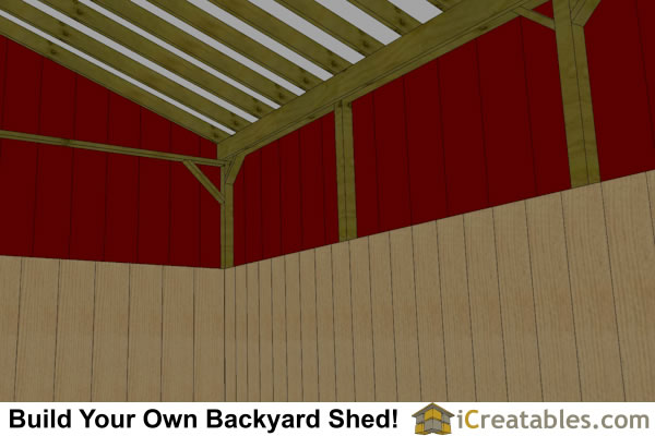 3 stall horse barn with lean to breezeway inside
