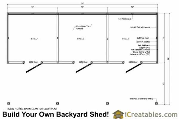 small horse barn floor plan