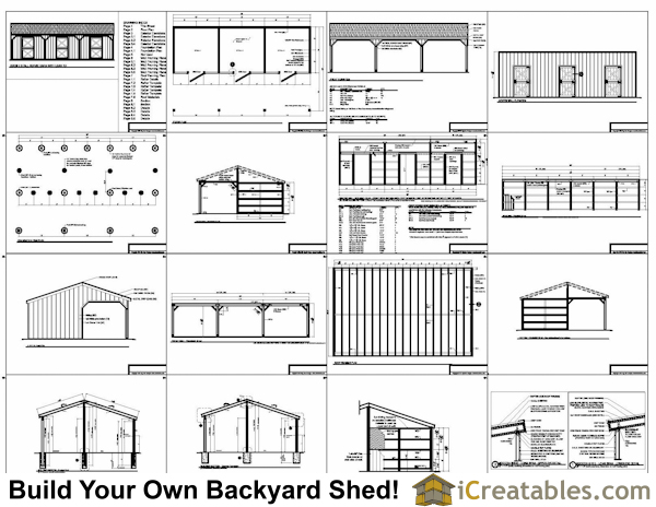 Photos Of Free Horse Shed Plans