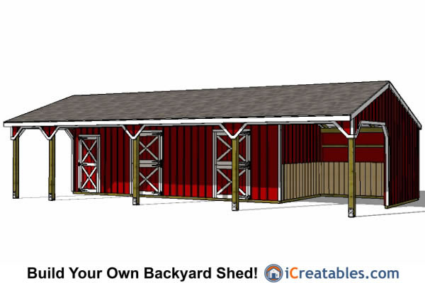 Plans for lean to 12x36 joy studio design gallery best for Design your own barn house