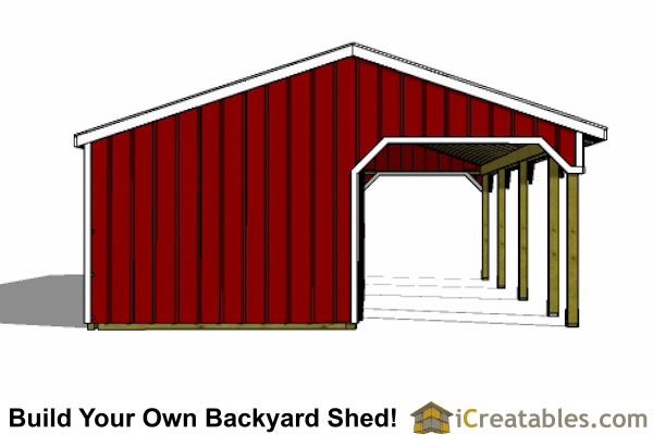 3 stall horse barn plans with lean to and tack room 3rd for Horse stall door plans