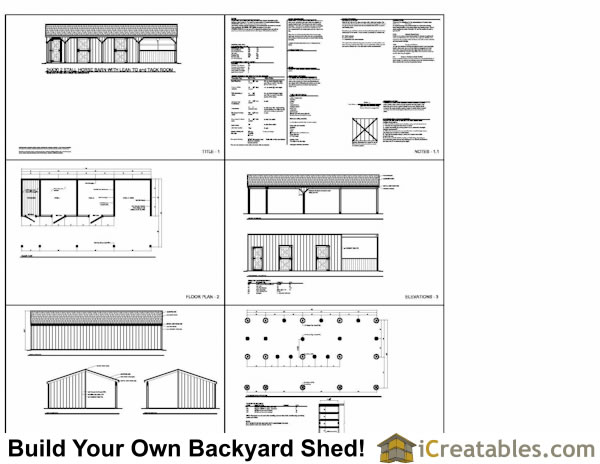 3 stall horse barn plans with lean to and tack room 3rd for Free 2 stall horse barn plans