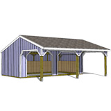 24x22 run in shed front