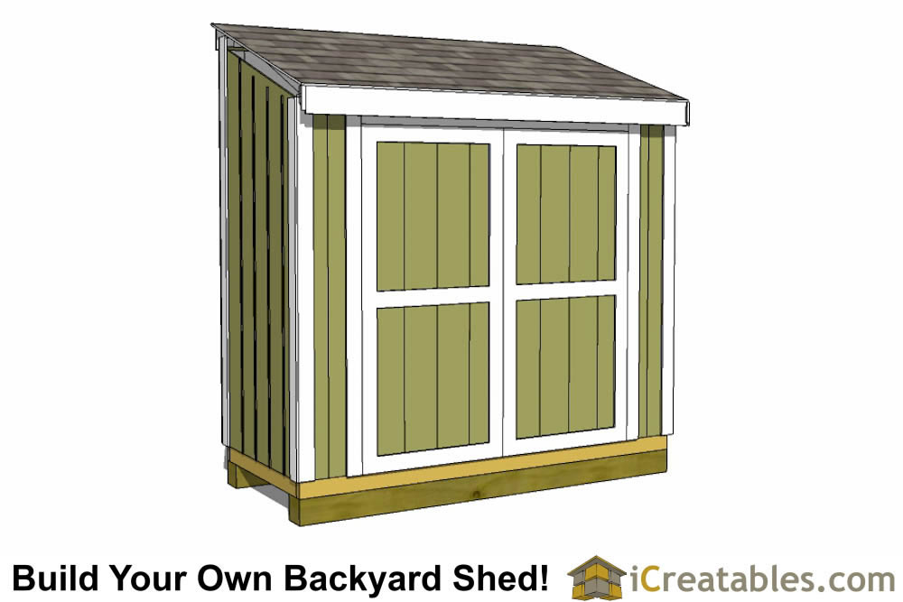3x12 lean to shed plans