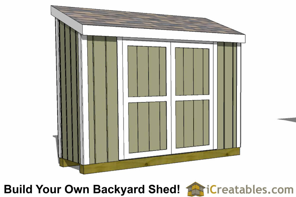 3x10 lean to shed plans 3x10 shed plans for Double door shed plans