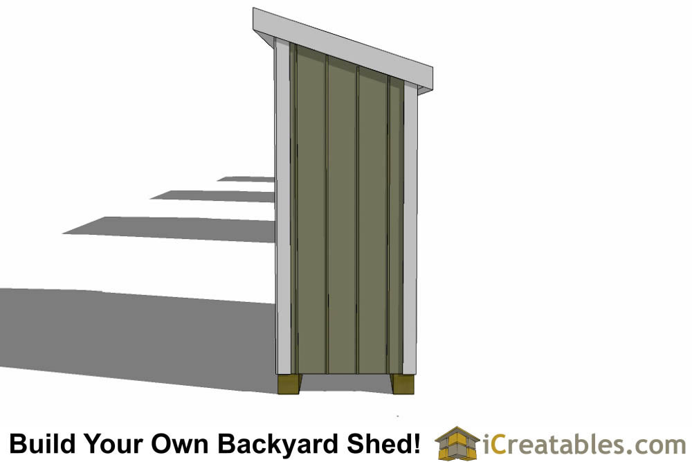 3x10 lean to shed plans top
