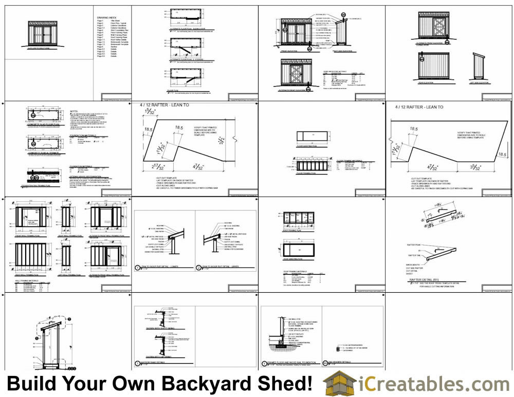 3x10 lean to shed plans