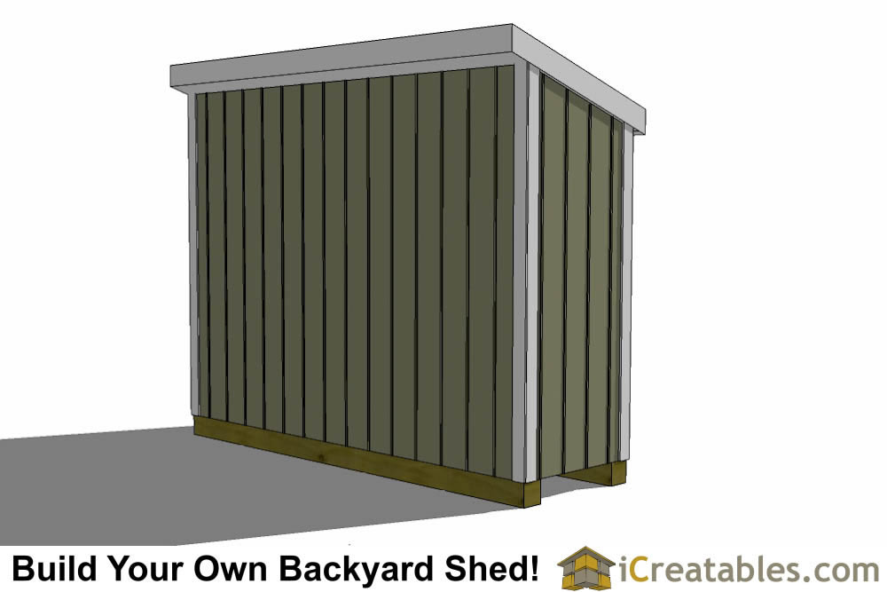3x10 lean to shed plan front