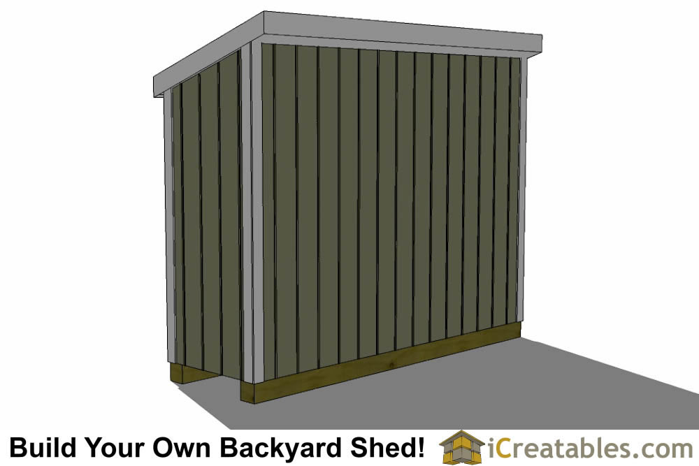 3x10 lean to shed plans rear