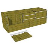 3x9 Wood Compost Bin