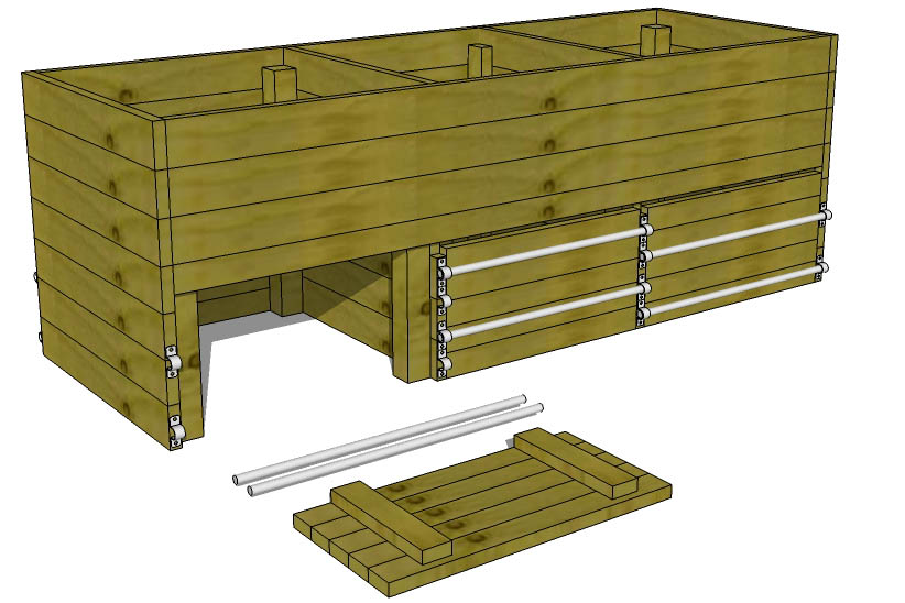 3x3x9 Wood Compost Bin Plans Use Our Plans to Make a Compost Bin