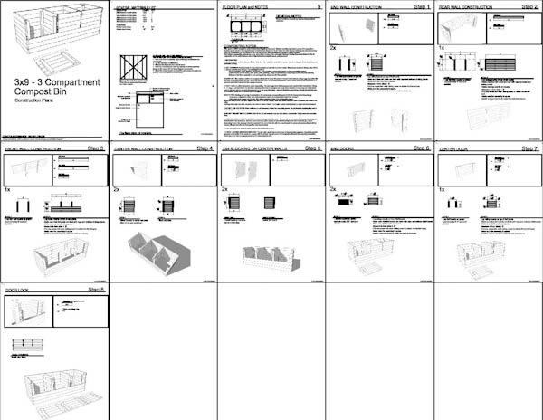 3x3x9 Wood Compost Bin Plans