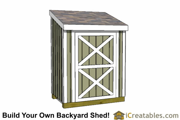 3x6 lean to shed plans front view