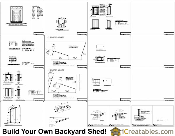 3x6 shed plans example