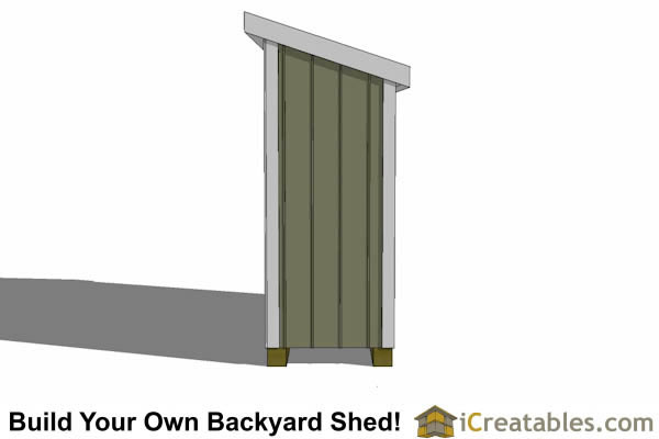 3x8 lean to shed rear