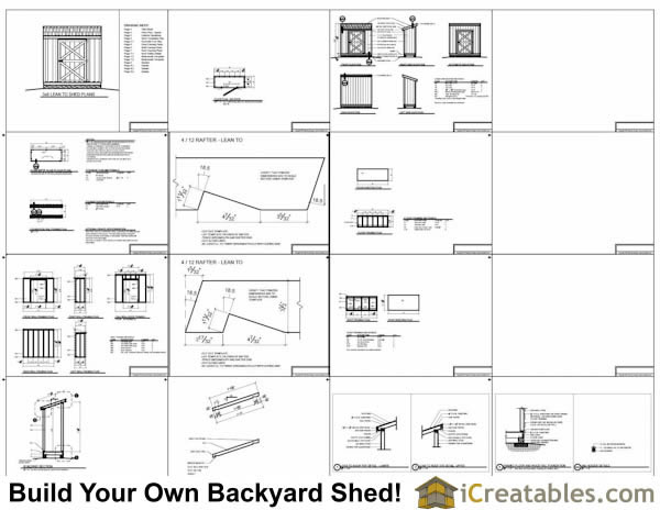 3x8 shed plans example