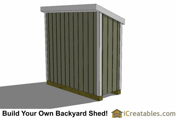 3x8 lean to shed left