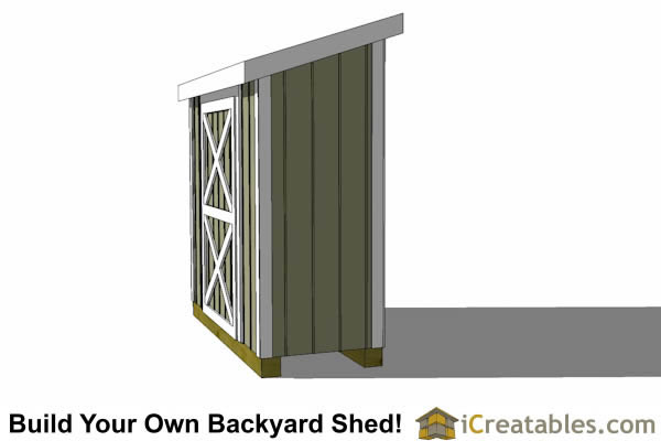 3x8 lean to shed top
