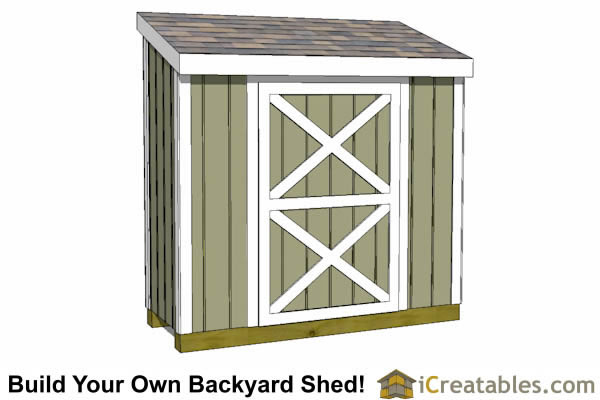 3x8 lean to shed front