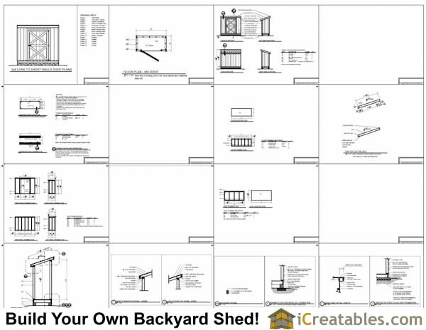 4x8 generator shed plans